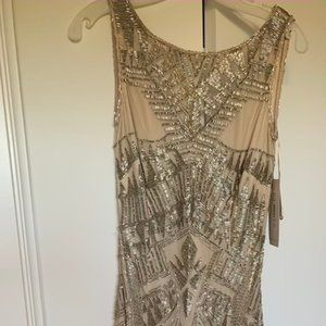Theia Couture Hand Beaded Cocktail Dress